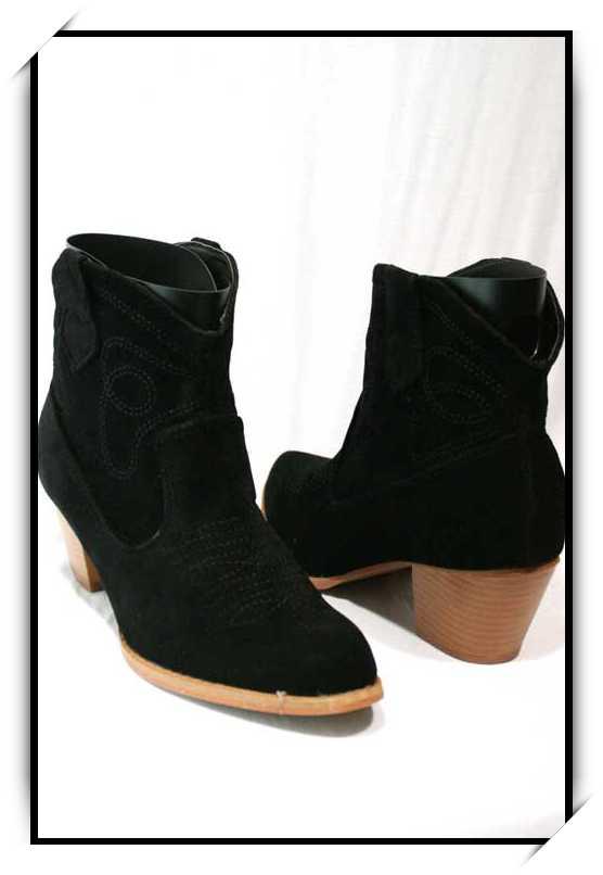 Chaussures bottes bottines simili daim CBT1 NOIR Wwsdqb6MS1