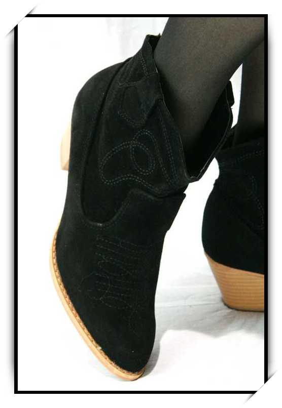 Chaussures bottes bottines simili daim CBT1 NOIR GMNDbB4I