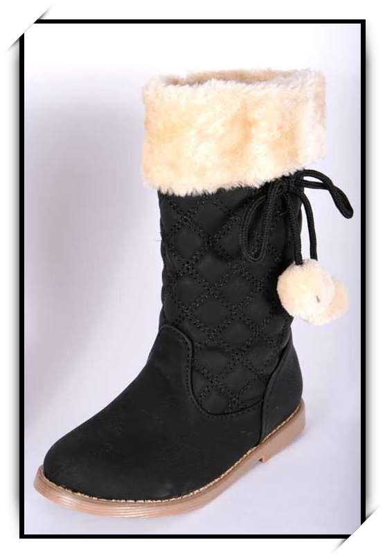 09842d51edb1d Description du produit « Chaussures bottes fille enfant simili cuir fourre  hiver 25 26 27 28 29 30 B919 NOIR »