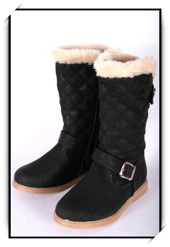 chaussures bottes fille enfant simili cuir fourre hiver 25 26 27 28 29 30 b901 noir chaussures. Black Bedroom Furniture Sets. Home Design Ideas