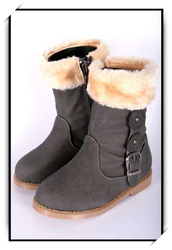 chaussures bottes bebe fille enfant simili cuir fourre. Black Bedroom Furniture Sets. Home Design Ideas