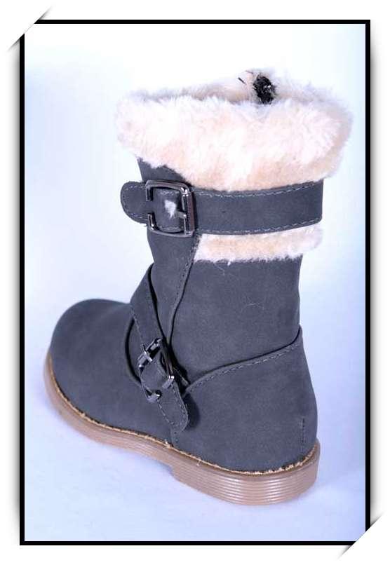 chaussures bottes bebe fille enfant simili cuir fourre hiver 19 20 21 22 23 24 b902 gris. Black Bedroom Furniture Sets. Home Design Ideas