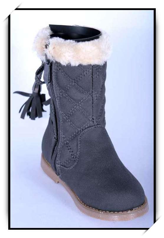 chaussures bottes bebe fille enfant simili cuir fourre 20. Black Bedroom Furniture Sets. Home Design Ideas