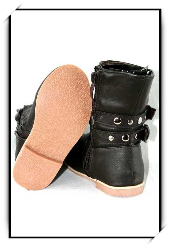 Chaussures bottes enfant simili cuir B53007 MARRON pfRfa